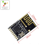 NRF24L01 Wireless Transceiver + 2.4GHz Antenna Module [SMD]