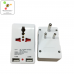 Universal travel adapter India with dual USB charging, 13A and LED power indicator