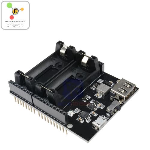 Arduino Uno battery shield  ESP8266 ESP32 Power Supply Rechargeable