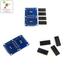 Double Socket Dual Base Shield For WeMos D1 Mini